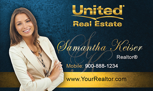 Blue United Real Estate Business Card - Design #141041