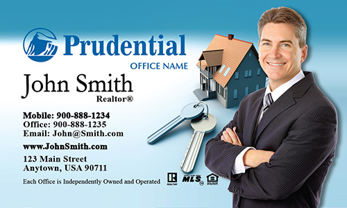 Prudential Business Card House and Key - Design #105031