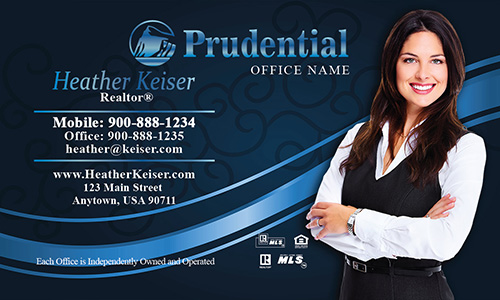 Prudential Business Card Black and Blue - Design #105111