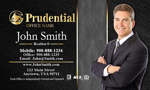 Prudential Business Card Modern Black and Gray - Design #105192