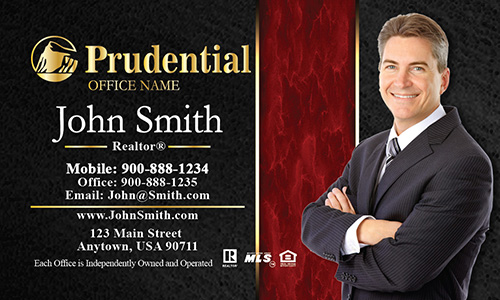 Prudential Business Card Modern Black and Red - Design #105193