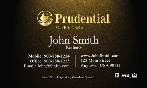 Prudential Gold Realtor Business Card - Design #105314
