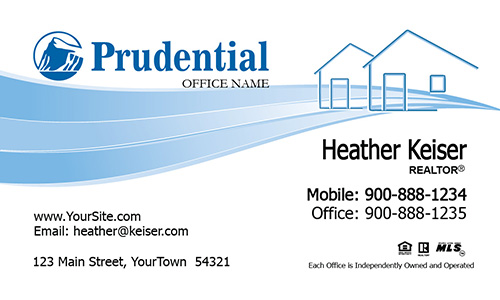 Prudential Business Card Simple House - Design #105321