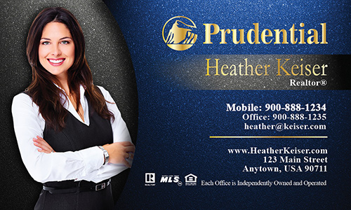 Prudential Business Card Photo Overlay Blue - Design #105341