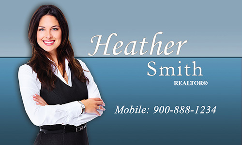 Custom Prudential Business Card With Realtor Photo - Design #105371