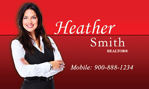 Prudential Business Card With Realtor Photo Red - Design #105373