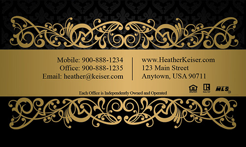 Upscale Prudential Real Estate Business Card - Design #105411
