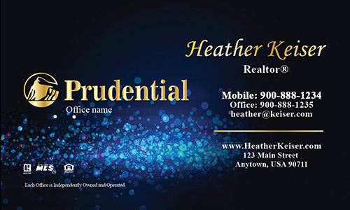 Blue Prudential Business Card - Design #105431