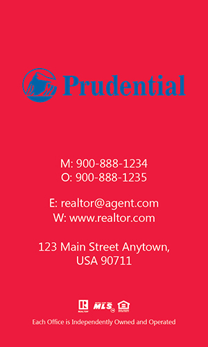 Prudential Realtor Vertical Business Card with Photo - Design #105473