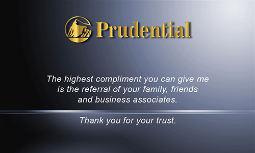 Blue Prudential Business Card - Design #105481