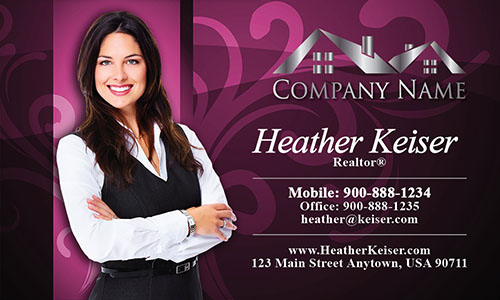 Realtor Silhouette Business Card - Design #106101