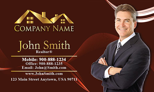 Trendy Realtor Photo Business Card - Design #106122