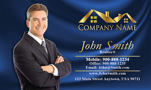 Realtor Real Estate Business Cards with Photo - Design #106142