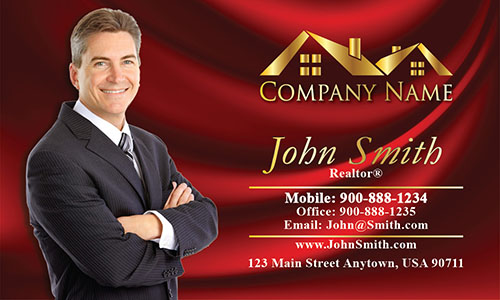 Realtor Real Estate Business Cards with Photo - Design #106143