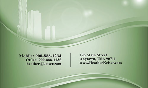 Down Town View Real Estate Business Card - Design #106164