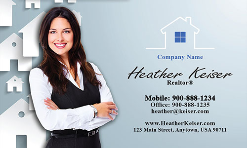 Realtor Photo Business Card - Design #106171