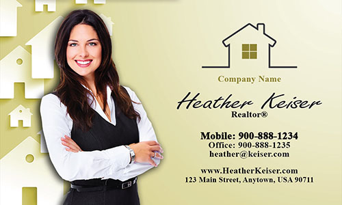 Realtor Photo Business Card - Design #106174