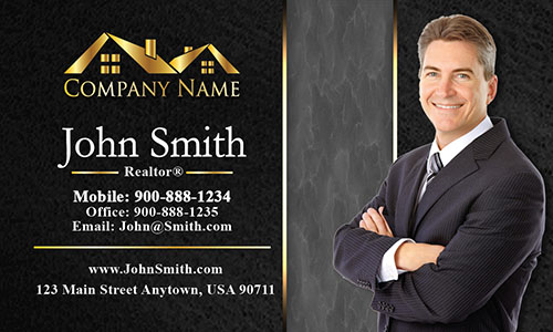Trendy Realtor Photo Business Card - Design #106193
