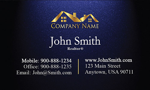 Realty Business Card with Gold Logo - Design #106311