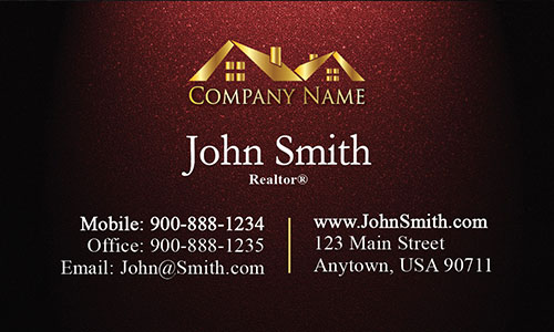 Realty Business Card with Gold Logo - Design #106312