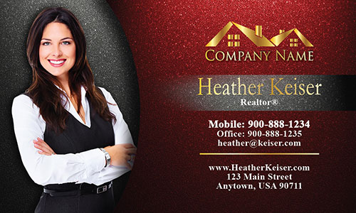 Cool Realtor Photo Business Card - Design #106341