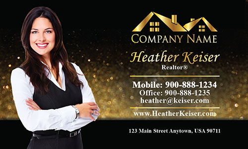 Stylish Realtor Business Card - Design #106351
