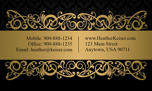 Luxury Gold Label Realtor Business Card - Design #106411