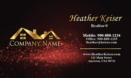 Double Sided Realtor Business Card - Design #106432