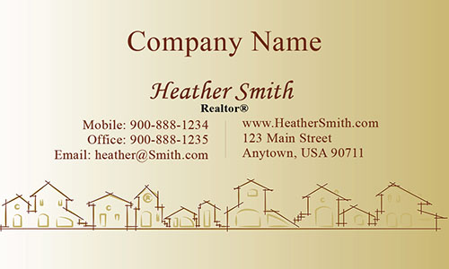 Real Estate and Property Management Business Card - Design #106463
