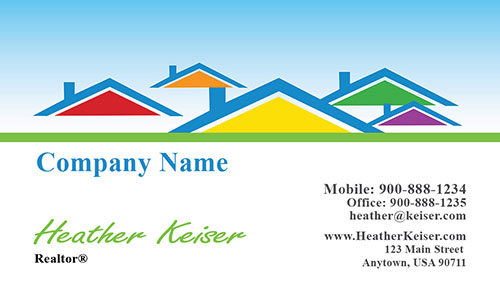 Realtor and Construction Business Card - Design #106491