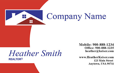 Real Estate Agent Business Card - Design #106501