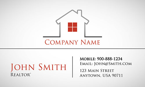 Modern and Stylish Real Estate business Card - Design #106531