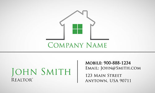 Modern and Stylish Real Estate business Card - Design #106533