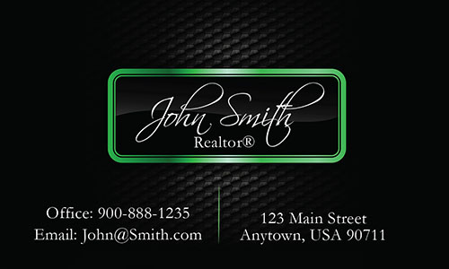 Realtor Business Cards with Text - Design #106543