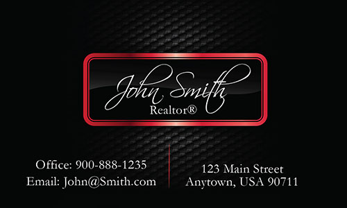 Realtor Business Cards with Text - Design #106544