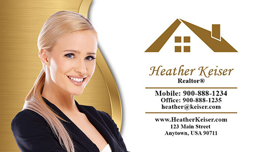 Elegant Real Estate Agent Business Card - Design #106553