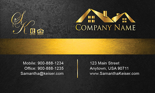 Black Broker Business Card - Design #106571