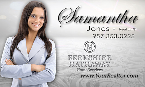 Gray Berkshire Hathaway Business Card - Design #108061