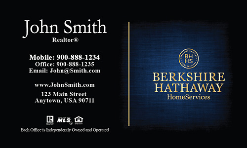 Blue Berkshire Hathaway Business Card - Design #108072