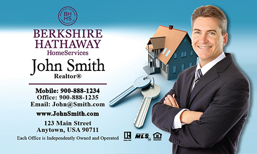 Blue Berkshire Hathaway Business Card - Design #108081