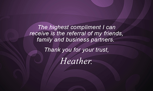 Purple Berkshire Hathaway Business Card - Design #108121