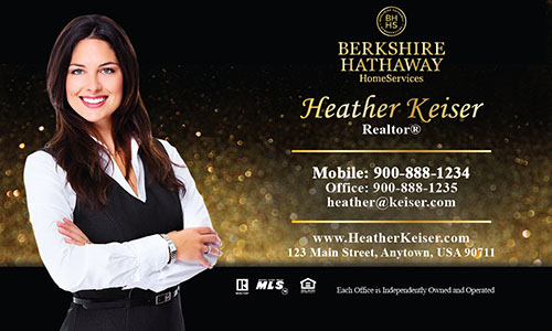 Black Berkshire Hathaway Business Card - Design #108131