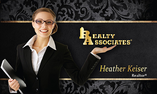 Black Realty Associates Business Card - Design #109061