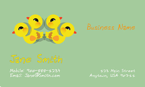 Adorable Babysitter Business Card - Design #1101071