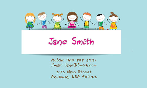Preschool Teacher Business Cards - Design #1101102