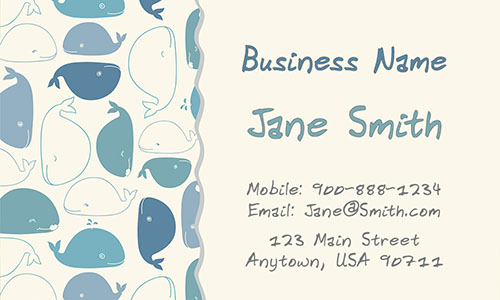 Babysitting Business Card - Design #1101151