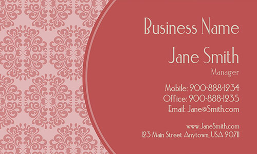 Red Personal Business Card - Design #1201012