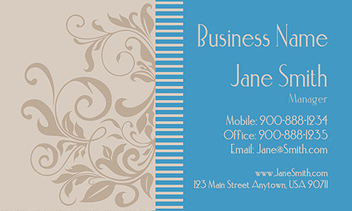 Blue Personal Business Card - Design #1201021
