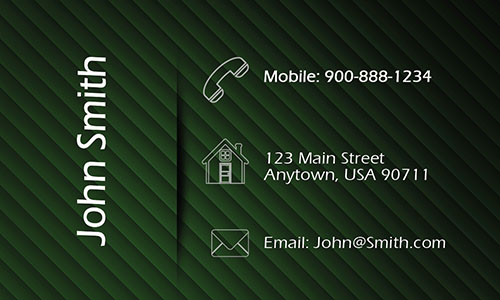 Green Personal Business Card - Design #1201094