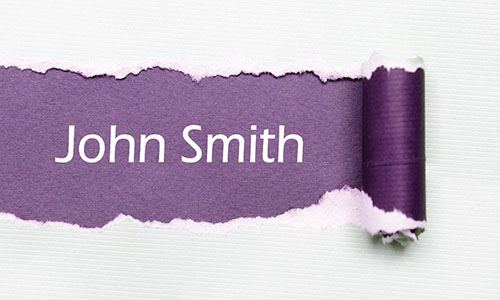 Purple Personal Business Card - Design #1201103
